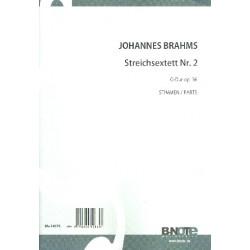 Brahms, Johannes: Sextett Nr. 2 G-Dur op.36 für 2 Violinen, 2 Violen und 2 Violoncelli Stimmen
