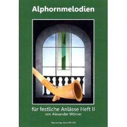 Wörner, Alexander: Alphornmelodien für festliche Anlässe Band 2 (+CD) : für 3 Alphörner Spielpartitur