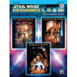 Star Wars Episodes 1-3 (+CD) : for alto saxophone