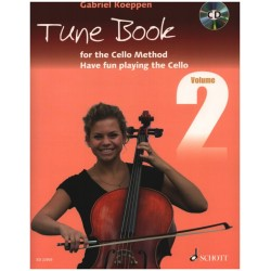 Cello Method - Tune Book 2 (+CD) : for 1-3 cellos (piano ad lib) (en) 2 scores