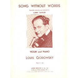 Godowsky, Leopold: Song without Words : for violin and piano