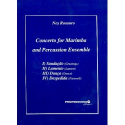 Rosauro, Ney Gabriel: Concerto : for marimba and percussion-ensemble score