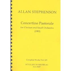 Stephenson, Allan: Concertino Pastorale : f├╝r Klarinette und kleines Orchester Partitur
