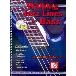 Hungerford, Jay: Walking Jazz Lines (+CD) : for Bass