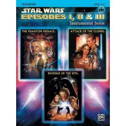 Star Wars Episodes 1-3 (+CD) : for trombone