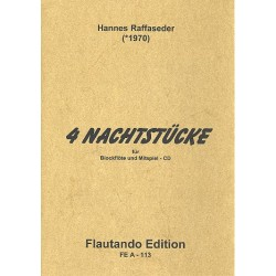 Raffaseder, Hannes: 4 Nachtstücke (+CD) für Tenorblockflöte und CD