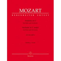 Mozart, Wolfgang Amadeus: Andante C-Dur KV315 : für Flöte und Orchester Partitur