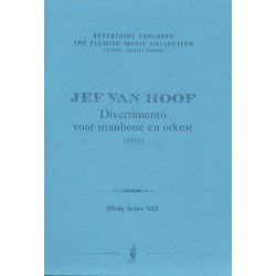 Hoof, Jef van: Divertimento für Posaune und Orchester Studienpartitur