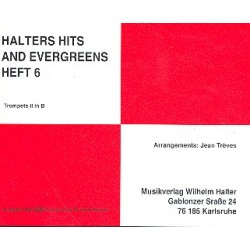 Halters Hits and Evergreens Band 6 : f├╝r Blasorchester Trompete 2