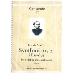 Andrée, Elfrida: Symphony Eb major no.2 : for organ and brass instruments score
