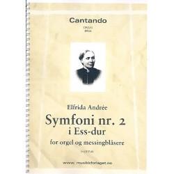 Andrée, Elfrida: Symphony Eb major no.2 for organ and brass instruments score