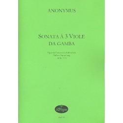 Anonymus: Sonata : f├╝r 3 Viole da gamba Partitur und Stimmen