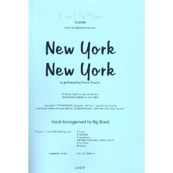 Ebb, Fred: New York New York : for voice and big band score and parts