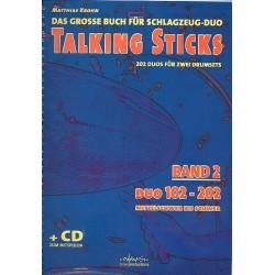 Krohn, Matthias: Talking Sticks Band 2 (+CD) (dt) : f├╝r 2 Schlagzeuge Spielpartitur