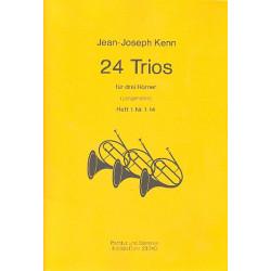 Kenn, Jean-Joseph: 24 Trios Band 1 (Nr.1-14) : für 3 Hörner Partitur und Stimmen