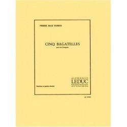 Dubois, Pierre Max: 5 Bagatelles : pour 3 trompettes partition et parties