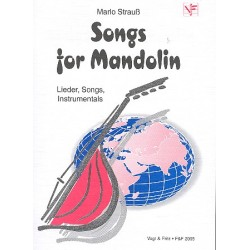 Songs for Mandolin : Lieder, Songs, Instrumentals für 1-3 Mandolinen Partitur