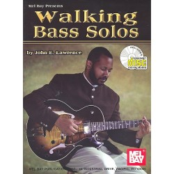 Lawrence, John E.: Walking Jazz Solos (+CD) : for Bass/tab