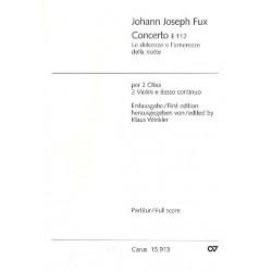 Fux, Johann Joseph: Concerto E112 für 2 Oboen, Fagott, 2 Violinen und Violoncello Partitur