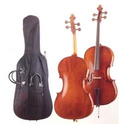 Höfner Cellogarnitur AS-185-C 1/2 inkl. Bogen und Tasche