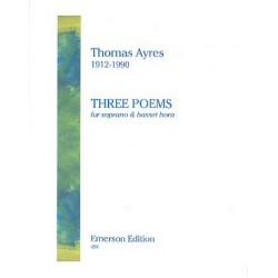 Ayres, Thomas: 3 Poems : for soprano and bassethorn 2 scores