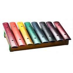 Xylophon mit 8 Tönen - regenbogenfarbig