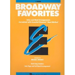 Broadway Favorites : for horn in f Solos and band arrangements