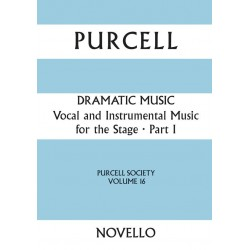 Purcell, Henry: Vocal and Instrumental Music for the Stage vol.1 score