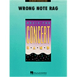 Bernstein, Leonard: The Wrong Note Rag: for concert band score