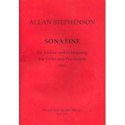Stephenson, Allan: Sonatine : für Violine und Schlagzeug