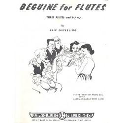 Osterling, Eric: Beguine : für 3 Flöten und Klavier Partitur ( Klavierstimme) und Stimmen