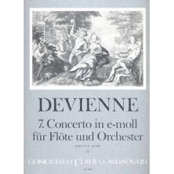 Devienne, Francois: Konzert e-Moll Nr.7 : für Flöte und Orchester Partitur