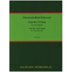Gébauer, Francois-Réné: Trio F-Dur Nr.7 für 3 Fagotte Partitur und Stimmen