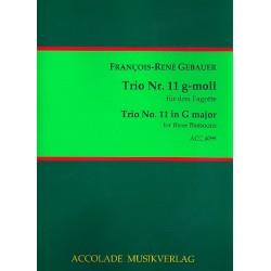 Gébauer, Francois-Réné: Trio g-Moll Nr.11 für 3 Fagotte Partitur und Stimmen