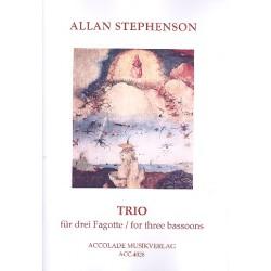 Stephenson, Allan: Trio für 3 Fagotte Partitur und Stimmen