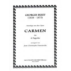 Bizet, Georges: Carmen (Auszüge) : für 4 Fagotte Partitur und Stimmen