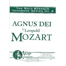 Mozart, Leopold: Agnus Dei : for alto voice, trombone and chamber orchestra score, piano reduction and parts