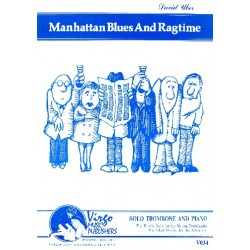 Uber, David: Manhattan Blues and Ragtime: for trombone and piano