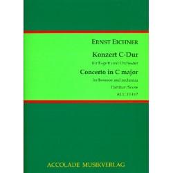 Eichner, Ernst: Konzert C-Dur : für Fagott und Orchester Partitur
