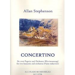 Stephenson, Allan: Concertino f├╝r 2 Fagotte und Orchester : f├╝r 2 Fagotte und Klavier