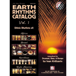 Krillzarin, Ivan: Earth Rhythm Catalogue vol.1(+CD) : for drumset, bass, bongo