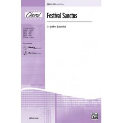 Leavitt, John: Festival Sanctus : for female chorus and piano score