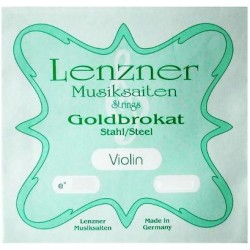Lenzner Goldbrokat Violinsaite E 4/4 (Schlinge) - sehr hart (.28)