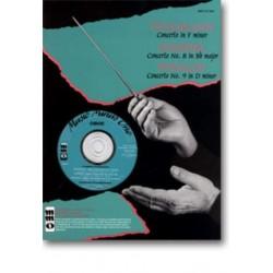 Mozart, Wolfgang Amadeus: Music minus one Oboe : 3 concertos (Telemann, Händel, Vivaldi) noten und CD