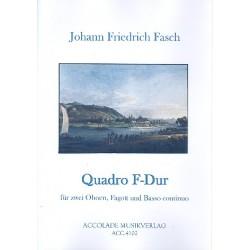 Fasch, Johann Friedrich: Quadro F-Dur FWV N:F2 : für 2 Oboen, Fagott und Bc Partitur und Stimmen