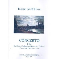 Hasse, Johann Adolph: Concerto F-Dur : für Oboe, Chalumeau (Klarinette), Fagott und Bc Partitur und Stimmen