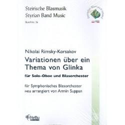 Rimski-Korsakow, Nicolai: Variationen über ein Thema von Glinka : für Oboe und Blasorchester