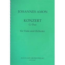 Amon, Johann Andreas: Konzert G-Dur op.10 : für Viola und Orchester Partitur
