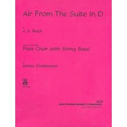 Bach, Johann Sebastian: Air aus der Suite D-Dur : für 4 Flöten, Altflöte und Kontrabass Partitur und Stimmen