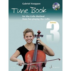 Cello Method - Tune Book 3 (+CD) : for 1-3 cellos (piano ad lib) (en) 2 scores